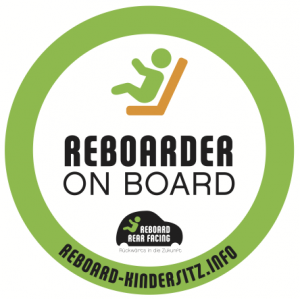 "Aufkleber ""Reboarder on board"""