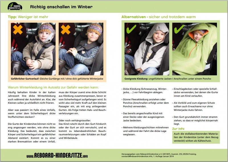 """50 Informationsflyer """"Richtig anschnallen im Winter"""""""